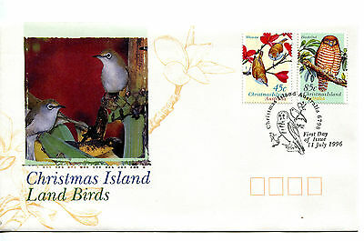 Christmas Island 1996 Land Birds FDC