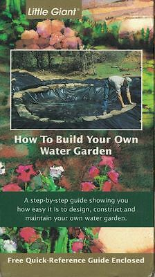 Little Giant HOW TO BUILD YOUR OWN WATER GARDEN Instructional VHS Tape Movie