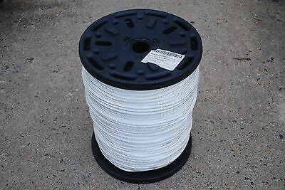 "3/8"" x 1000' DOUBLE BRAIDED NYLON ROPE WHITE FIBROUS DOCK LINE ANCHOR LINE NEW"