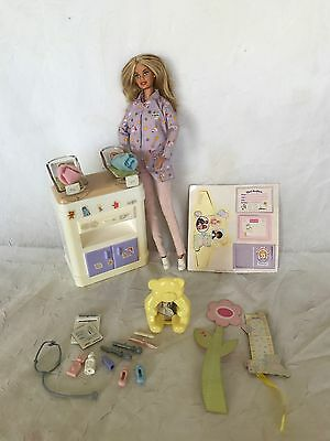 Pregnant Barbie Midge Doll Happy Family Baby Nikki's Ryan Smart House Nursery