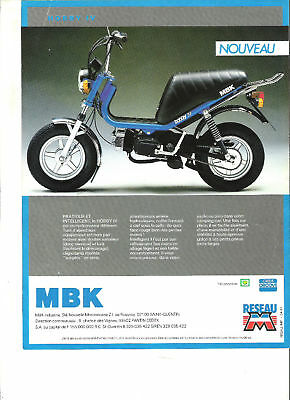 MBK HOBBY IV + WEEKY CACHAREL 1987 / catalogue brochure prospekt catalogo folder