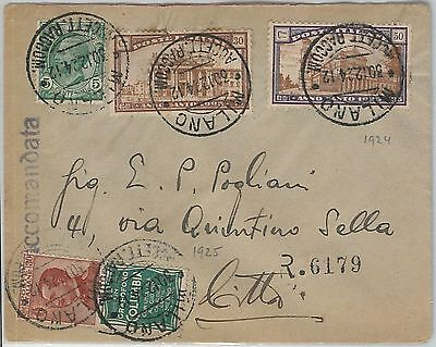 59770 -  ITALY - POSTAL HISTORY: ADVERTISING STAMP on COVER  1924 -  MUSIC