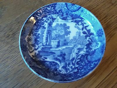 Vintage Copeland Spode Italian Blue & White Butter or Pin Dish.  OVAL MARK