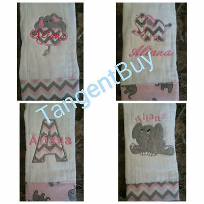 Embroidered burp cloth, Monogrammed, Personalized Baby Gift, Baby Burp Cloth