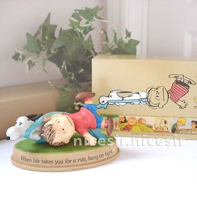 Hallmark Peanuts Gallery Linus Snoopy When life takes you for a ride Figurine