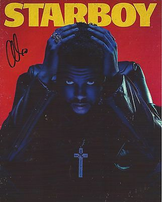 The Weeknd Autographed Starboy 8x10 Poster Photo Authentic Autographs