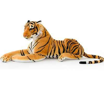 Plush Tiger Lying XL Giant Stuffed Animal Gift Toy Silky Games Ideal Gift NEW