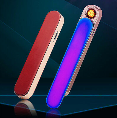 USB Cigarette Cigar Electronic Lighter Rechargeable Flameless Windproof MetalL05