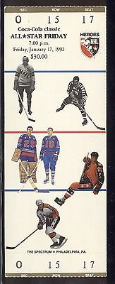 1992 NHL All Star Friday Ticket and Heroes of Hockey Game + Bonus