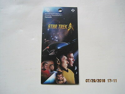 Star Trek  Canada Postage Stamps - Booklet of 10 - Free Ship Canada and USA
