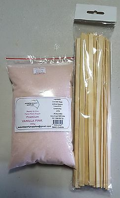 Fairy Floss Premium Sugar 500g RTU 25 Serves with Sticks VANILLA PINK