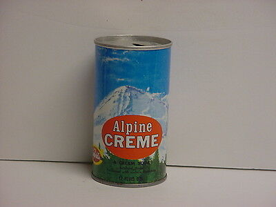 Vintage 1972 Canfield's Alpine Creme Soda Straight Steel Can Pull Tab Top Opened