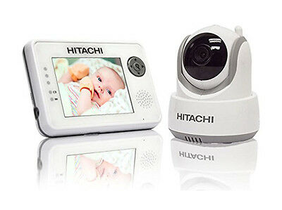 Hitachi Baby Monitor with Night Vision, Auto Motion, Tracking, Pan, Tilt & Zoom