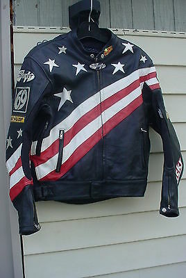 Nicky Hayden Replica Joe Rocket Leather Racing Jacket Size 46 Medium