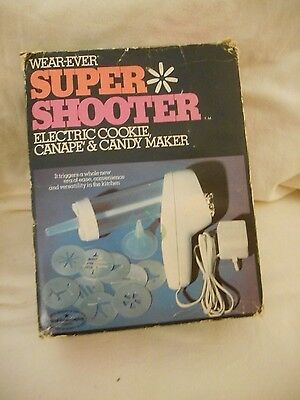 Vtg Wear-Ever Super Shooter 1-No. 70001 Electric Cookie Canape Candy Maker NEW