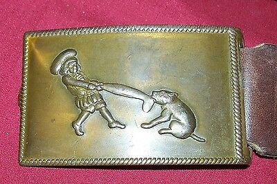Rare Buster Brown Tige Belt & Buckle Old Vintage Shoes Ad Advertising Antique