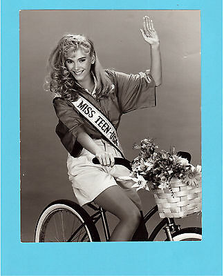 Miss Teen USA Riding Bicycle 1980's TV Press Photo