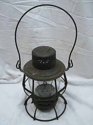 "Vintage Keystone ""The Casey"" PRR Railroad Train Lantern Kerosene Lamp Light RR"