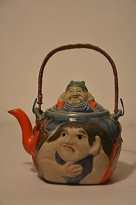 Old Japanese banko ware pottery teapot MARKED