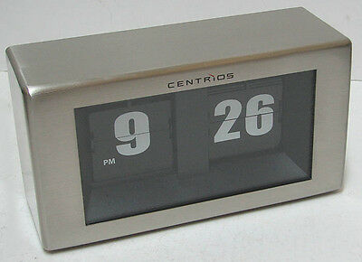 CENTRIOS 6311478 FLIP Clock Stainless Steel Cabinet n. MINT  Works Perfectly