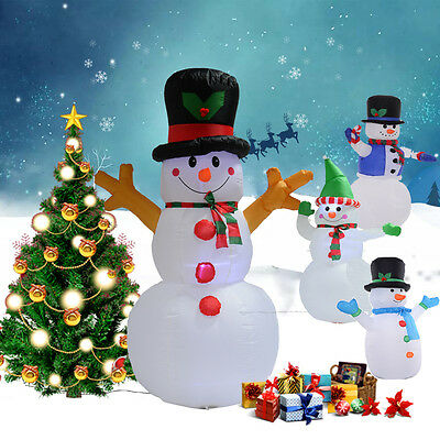 4 Styles Inflatable Christmas Snowman Air blown Decoration Present LED Light