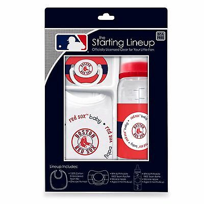 Boston Red Sox Baby Bib Pacifier Feeding Bottle Set (FREE SHIPPING) 0-12 months