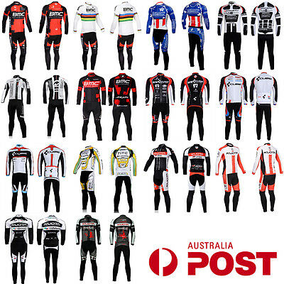 AU Stock - Cycling Bike Bicycle Clothing Long Sleeve Jersey Shirt Pants Set