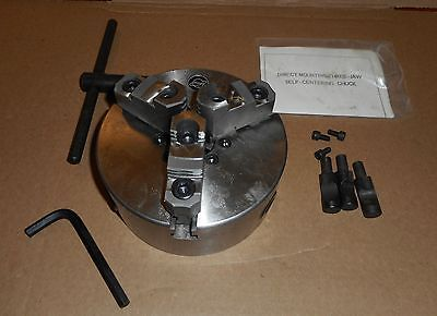 "New Universal 6"" Manual Chuck With D1-4 Mount Three Jaw Self Centering"
