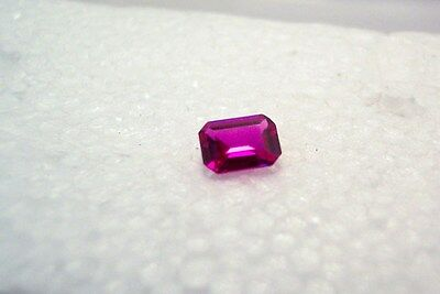 lab created beautiful  stuning vvs clean ruby 7x5 octagon carat 1.25 gemstone