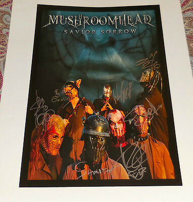 Mushroomhead Signed Promo Poster - Savior Sorrow Era!  Rare!  Look!