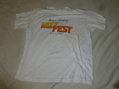 Vintage First Annual Peters Landing Jazz Fest Shirt Oct 11 1987 Size Xl