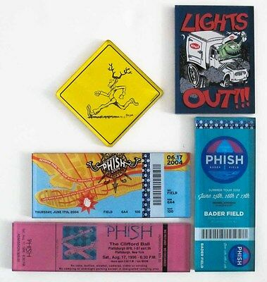 5 Authentic Phish Lucite Magnet Magnets Lot - Pollock Show Ticket