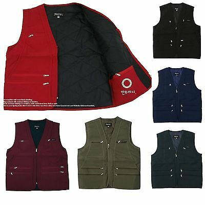 Mens Utility Multi Pockets Hunting Fishing Shooting Padding Vest Outdoor Jacket