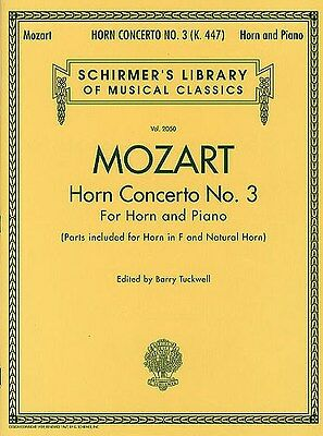 W.A. Mozart: Horn Concerto No.3. French Horn Sheet Music