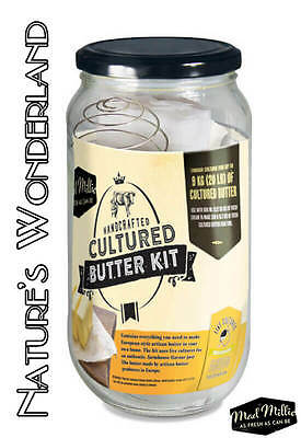 CULTURED BUTTER KIT -Mad Millie - Make handcrafted European style butter at home