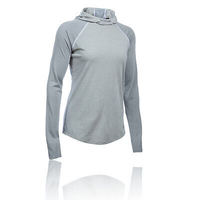 Under Armour Streaker Mujer Gris Sudadera Mangas Largas Capucha Running Top
