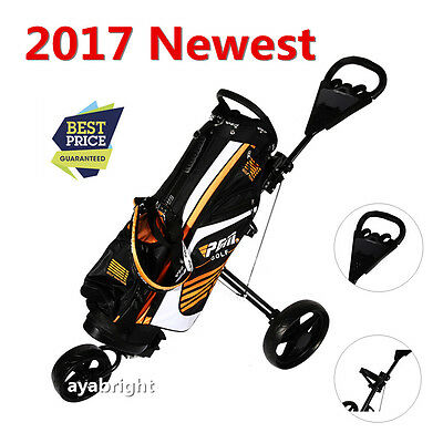 Greenway Superstrong 3 Wheel Aluminium Golf Trolley New Push Cart 2017