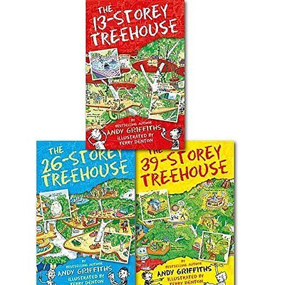 The 13-Storey Treehouse Collection, Andy Griffiths & Terry Denton 3 Books Set