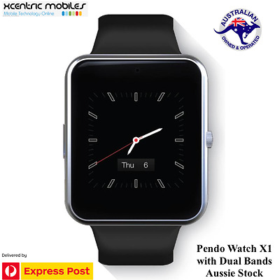 Pendo Watch X1 Dual Bands - Black - Android & iOS Compatible - Brand New SEALED