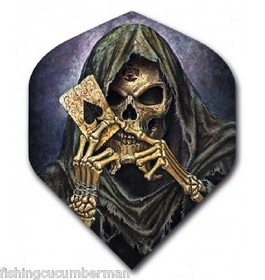 """Ruthless Alchemy """"reapers Ace Of Spades"""" Strong Dart Flights"""