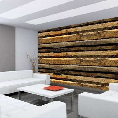 "Fleece Photo Wallpaper ""no. 2139"" ! Wood Wooden strips Trim wall brown ! l"