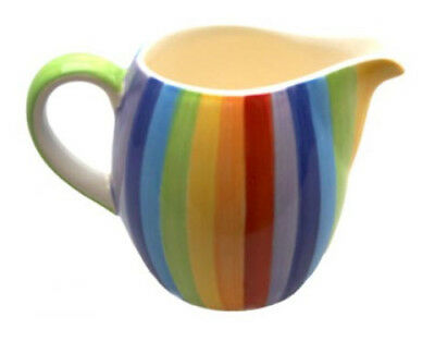 WINDHORSE Ceramic Rainbow Striped Milk Jug (Small) - BRAND NEW