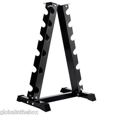 Vertical Dumbbell Storage Rack Home Gym Fitness Weight Equipment Steel 6 Pairs
