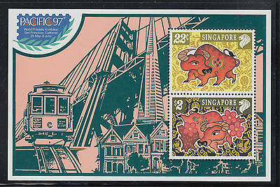Singapore Scott 775c VF MNH 1997 New Year Souvenir Sheet for Pacific '97