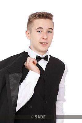 Boys Black Tuxedo Suit age 1-15 Years New