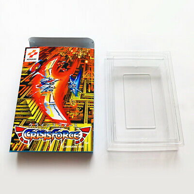 CRISIS FORCE - Replacement empty custom box case Famicom with tray, Konami