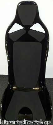 GRP BUCKET SEAT GLOSS BLACK ideal for kit car/SPORT TRACK CAR SLIGHT SECONDS