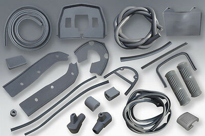 "Lambretta Gp - Sx - Tv & Lis Rubber Set ""grey""  - Brand New"