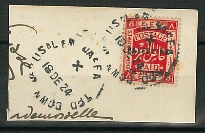 60948 -  PALESTINE - STAMPS: Stamp on cover cut-out -  TRAIN AMBULANT postmark
