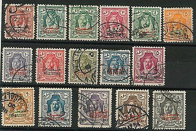 60949 -  PALESTINE - STAMPS:  SG # P1 - P16   Used - VERY FINE!!